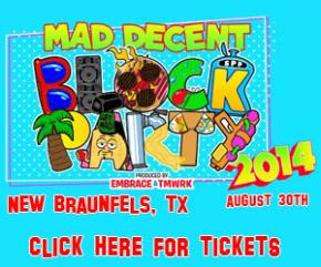 Flosstradamus added to Mad Decent Block Party in New Braunfels, TX - August 30, 2014