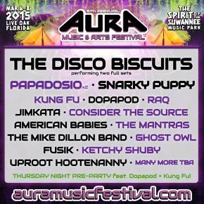 The Disco Biscuits to headline AURA Music Festival March 6-8 in Live Oak, FL