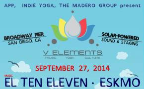 V Elements (Broadway Pier - San Diego, CA) unveils lineup for yoga and music festival on September 27