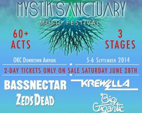 Mystik Sanctuary brings Bassnectar, Big Gigantic for biggest EDM festival in Oklahoma history (September 5-6, 2014) Preview