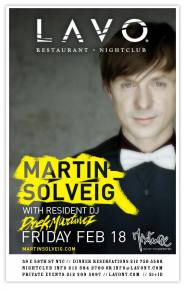 Martin Solveig: LAVO in New York City this Friday (2/18)