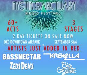 Manic Focus, Crizzly join Bassnectar, Big Gigantic, ZEDS DEAD at Mystik Sanctuary (Oklahoma City, OK - Sept 5-6)