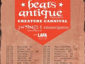 Beats Antique announces Creature Carnival fall tour with Shpongle, Emancipator!