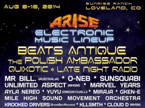 [PREVIEW] Everything you need to know about ARISE Festival (Loveland, CO - Aug 8-10) Preview
