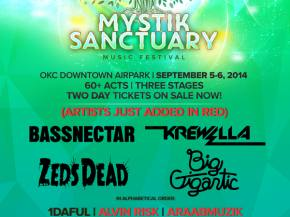 Infected Mushroom, AraabMuzik join Bassnectar, Big Gigantic, ZEDS DEAD at Mystik Sanctuary (Oklahoma City, OK - Sept 5-6) Preview