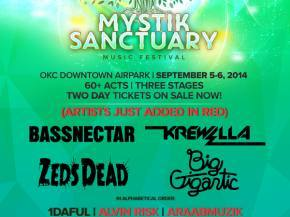 Single-day Mystik Sanctuary tickets on-sale FRIDAY at 10am CST; Bassnectar, Big Gigantic and more