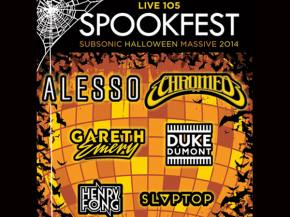 SPOOKFEST Halloween in Oakland with Chromeo, Alesso, Gareth Emery pre-sales in 24 hours