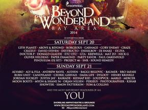 Watch the Beyond Wonderland (Bay Area - Sept 20-21) trailer, scope day-by-day schedule