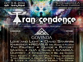Transcendence Festival brings Govinda, Love and Light, Kaminanda to Sacramento, CA Oct 3-6
