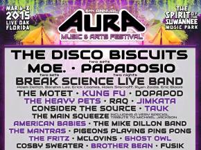 AURA adds Break Science Live Band in Phase 3 (March 6-8 Live Oak, FL)