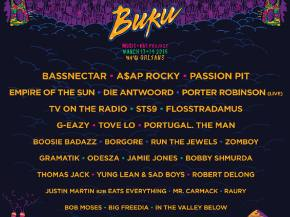 Bassnectar, STS9 headline BUKU New Orleans, LA March 13-14, 2015