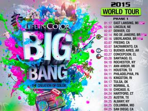 Life In Color: Big Bang World Tour 2015 phase 1 dates Preview