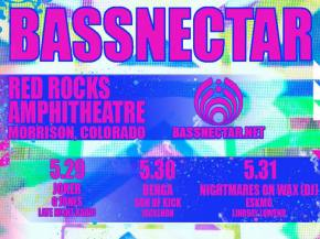 Bassnectar to headline 3 nights at Red Rocks May 29-31, 2015 Preview