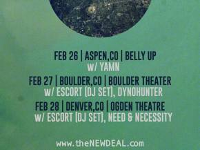 DYNOHUNTER remixes the NEW DEAL, opens for tND Feb 27 in Boulder, CO