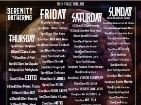 Serenity Gathering unveils main stage schedule for March 19-22