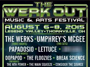 Break Science, The Floozies, Umphrey's McGee join The Werk Out 2015