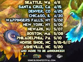 Road to SONIC BLOOM hits Chicago, NYC, Boston, Philadelphia, and more