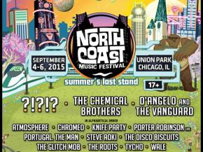 The Chemical Brothers top North Coast Music Festival Sept 4-6, 2015 Preview
