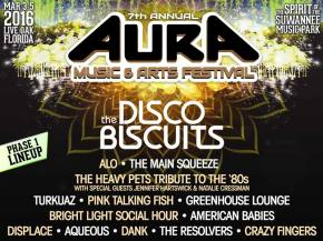 The Disco Biscuits headline AURA Festival 2016 Live Oak, FL March 3-5