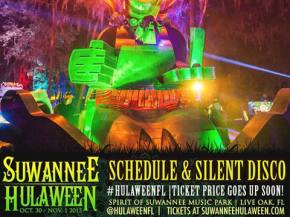 Suwannee Hulaween 2015 reveals daily schedule, Silent Disco lineup