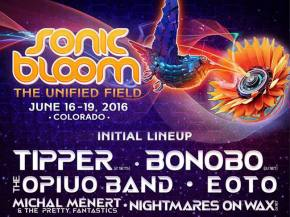 Bonobo, The Opiuo Band join Tipper on SONIC BLOOM 2016 initial lineup Preview