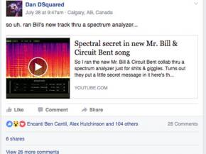 Did Mr. Bill and Circuit Bent just slip fans a secret spectral message???