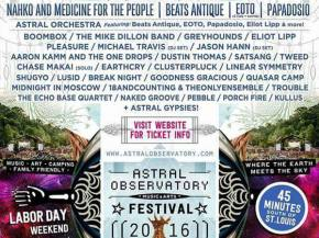 Astral Observatory is the new festival on the Labor Day Weekend block
