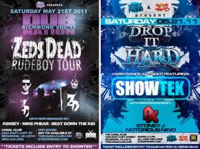 Zeds Dead and Showtek at Canal Club (May 21st)