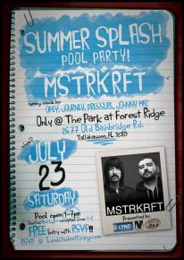 Summer Splash Pool Party Series - Free MSTRKRFT performance on Saturday, July 23