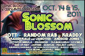 SONIC BLOSSOM - 2 Day mini-indoor fall festival at Cervante's this weekend