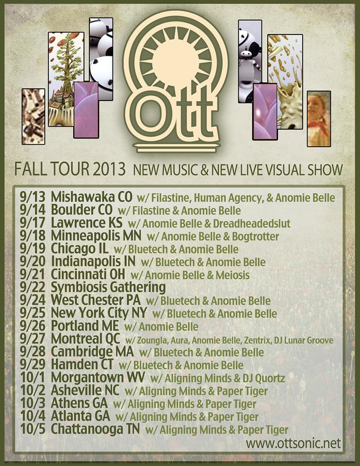 Ott 2013 fall tour dates