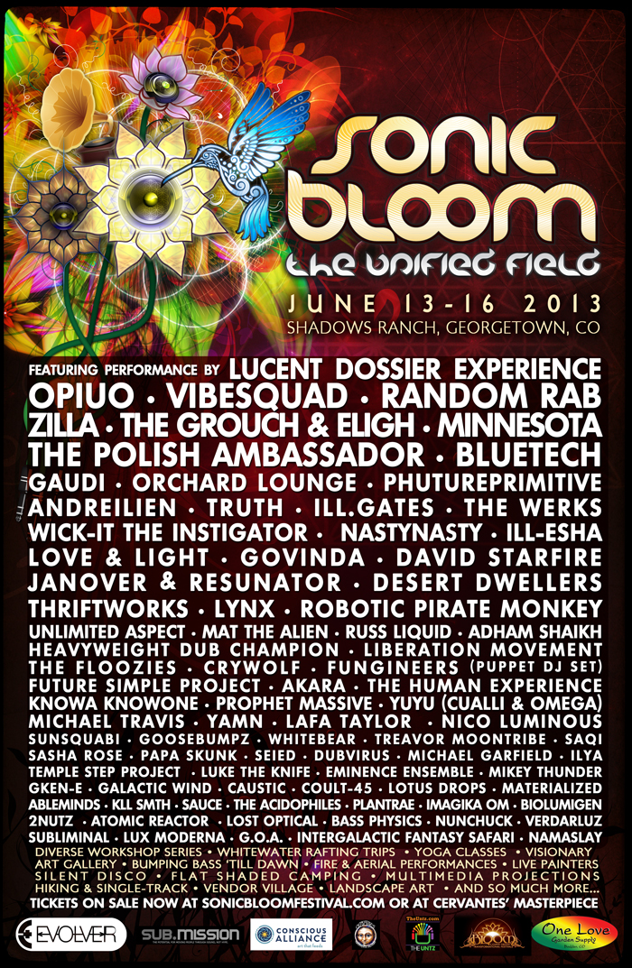 Sonic Bloom 2013 3rd Wave Lineup