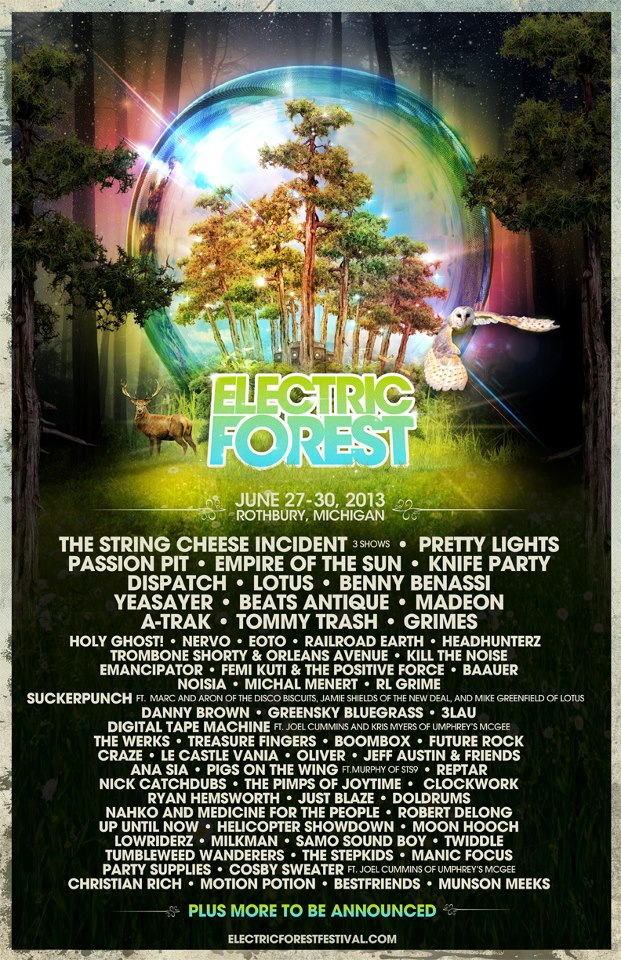 Electric Forest Festival Lineup