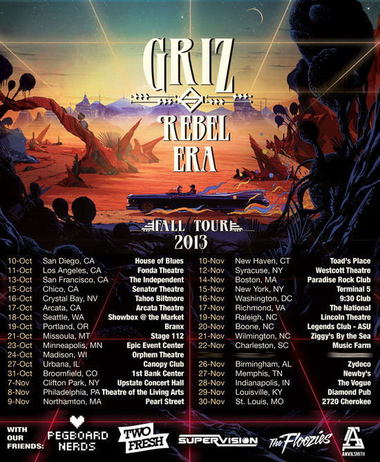 GRiZ Rebel Era fall 2013 tour