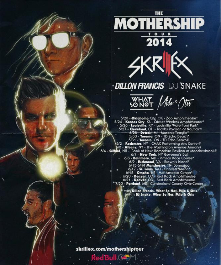 Skrillex MotherShip 2014 Tour