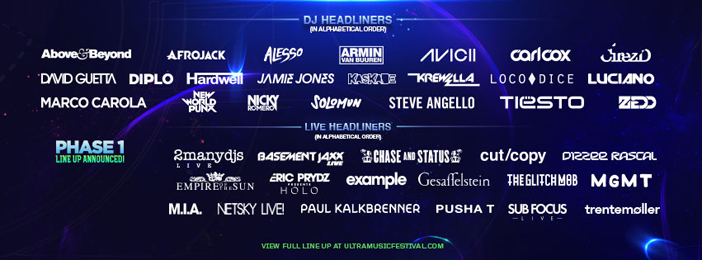 Ultra reveals Phase 1 lineup